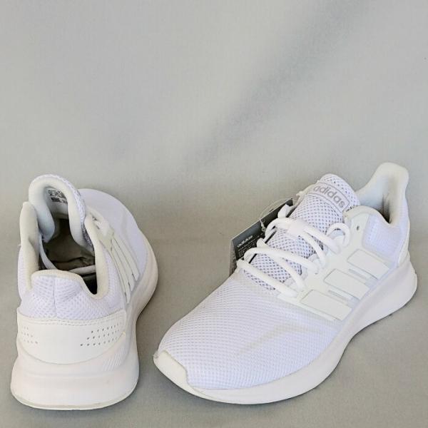中学生 通学シューズ 白ベース アディダス FALCONRUN W(ホワイト) 女子用 中学校 通学靴|bigsports|03