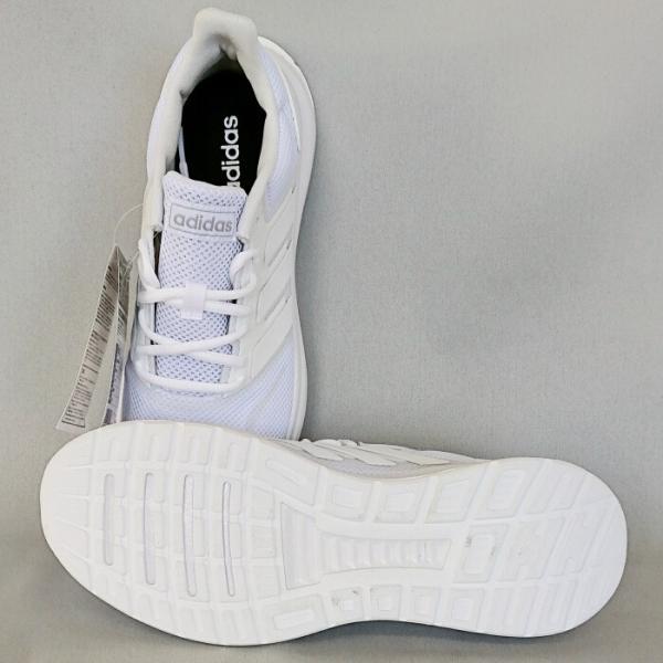 中学生 通学シューズ 白ベース アディダス FALCONRUN W(ホワイト) 女子用 中学校 通学靴|bigsports|05