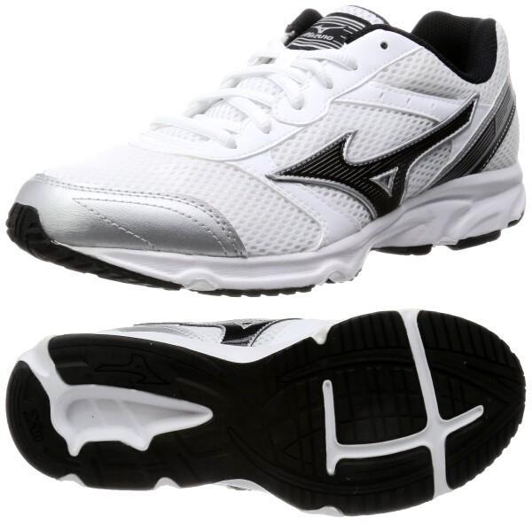 ミズノ マキシマイザー18(ホワイト×ブラック)通学用シューズ 通学靴 白|bigsports|02