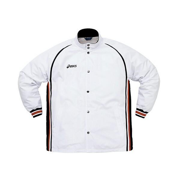 (上下セット)アシックス バスケ部専用ウインドブレーカー(ホワイト×ブラック×ストロングレッド) メンズ 部活|bigsports|02