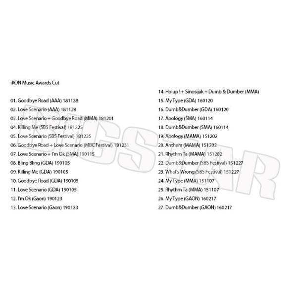 K-POP DVD/iKON 2015-2018 MUSIC AWARD CUT★AAA MAMA GDA GAON 他/アイコン KPOP DVD bigstar-shop 02