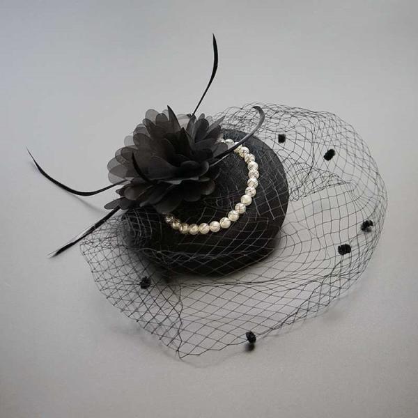 トーク帽 髪飾り フォーマル ウェディングヘッド ドレス ブライダル 結婚式 カクテル帽 演出 演奏会 シンプル ベール