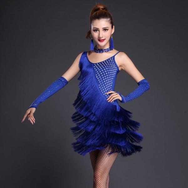 236fde5921193 フリンジラテン衣装 社交ダンス衣装 ワンピース 女性用 DANCE 練習着ダンスウェア コスプレ ...