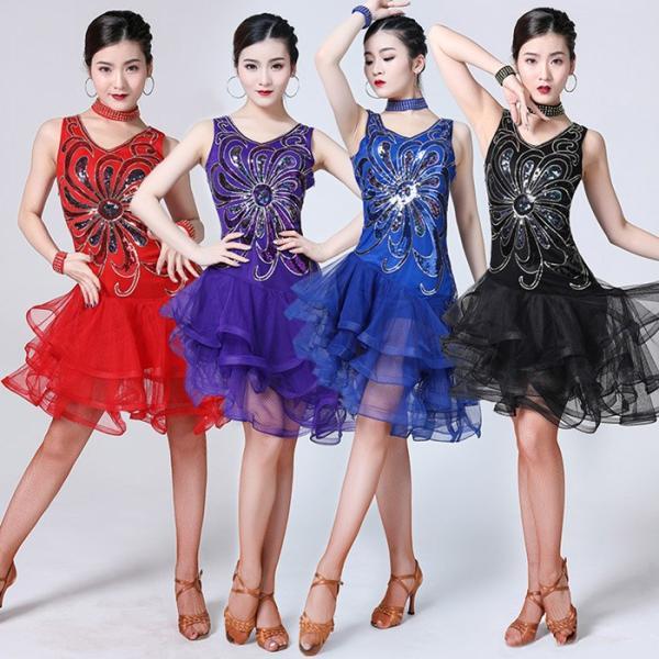 1b4b3cb3f6a37 ラテンダンス衣装 社交ダンス衣装 DANCE 練習着 ダンスウェア イベント カジュアル ステージ衣装