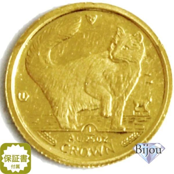 K24 マン島 キャット金貨 コイン 1/25oz 1.24g 1991年 招き猫 純金|bijou-shop