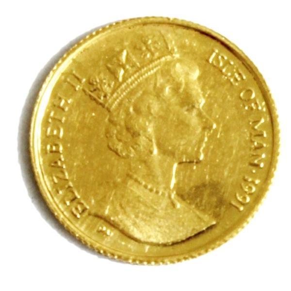 K24 マン島 キャット金貨 コイン 1/25oz 1.24g 1991年 招き猫 純金|bijou-shop|02