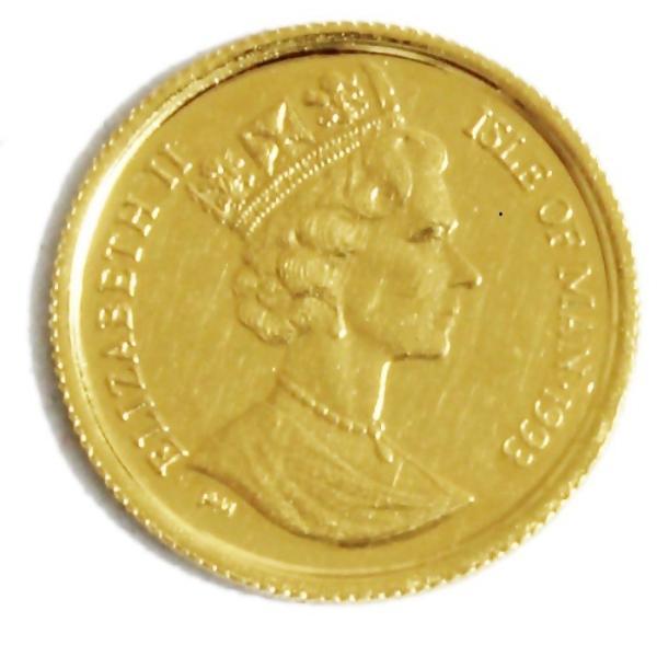 K24 マン島 キャット金貨 コイン 1/25oz 1.24g 1993年 招き猫 純金|bijou-shop|02