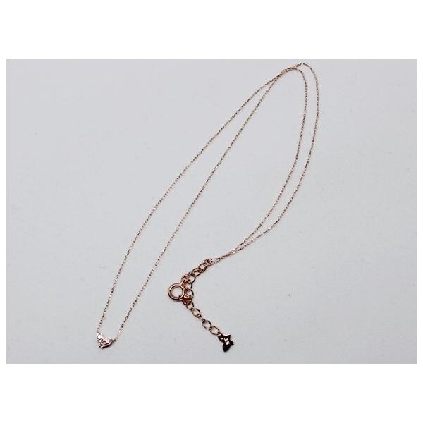 サマンサティアラ K10 ハート ダイヤ プチ ネックレス 0.05ct|bijou-shop|02