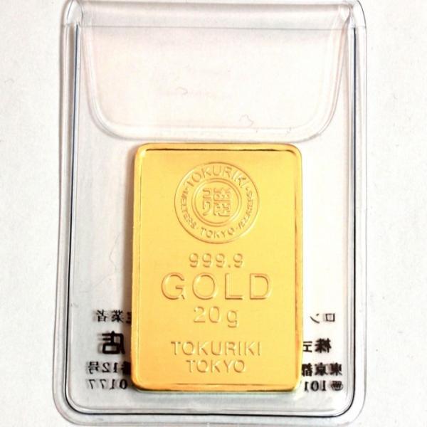 純金 インゴット 徳力 20g 新品未開封 K24 TOKURIKI INGOT 公式国際ブランド グッドデリバリー バー ゴールド バー 送料無料|bijou-shop|02