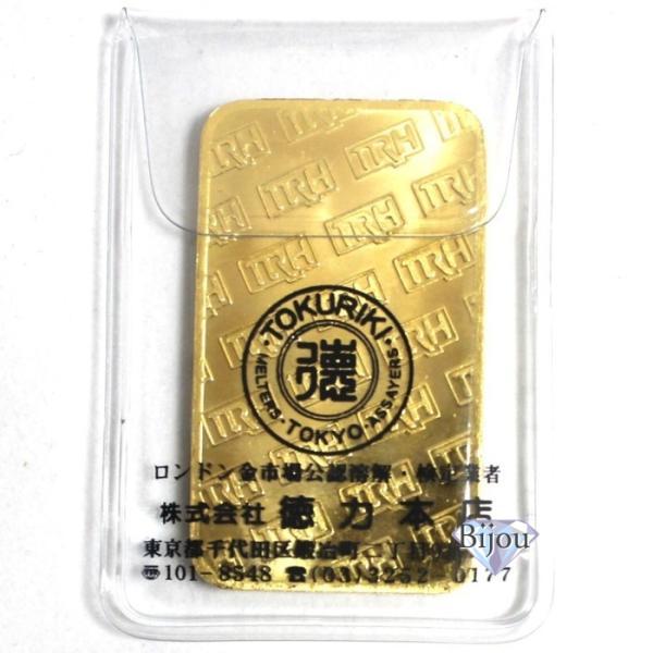 純金 インゴット 徳力 50g 新品 未開封 K24 TOKURIKI INGOT 公式国際ブランド グッドデリバリー バー ゴールド バー 送料無料|bijou-shop|02