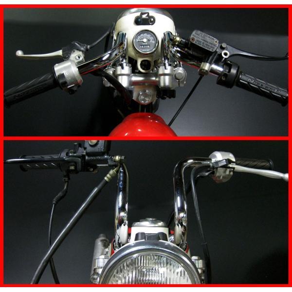 くるくるハンドル 20cm アップハンドル クルクルハンドル バーハンドル アップハン モンキー ダックス シャリー ゴリラ DAX|bikeman2|03