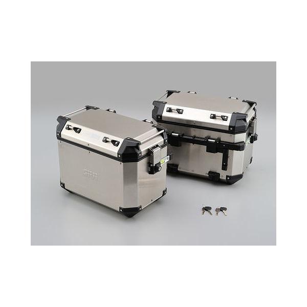 デイトナ 98490 ジビ OBKN48APACK2 アルミケース 左右セット 48L ツーリング リアボックス パニアケース サイドケース サイドボックス 防水
