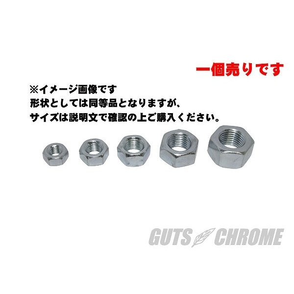 GUTS CHROME ガッツ クローム GC-72575 HEXナット 1/4-28 細目 ジンク|bikeman4mini