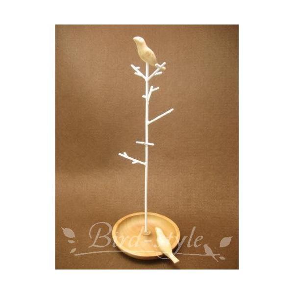 鳥 雑貨 グッズ/小鳥のアクセサリースタンド bird-style 02