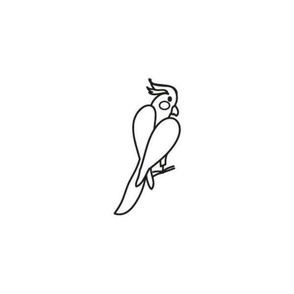 ステッカー・オカメインコ/インコ 鳥 雑貨 グッズ|bird-style