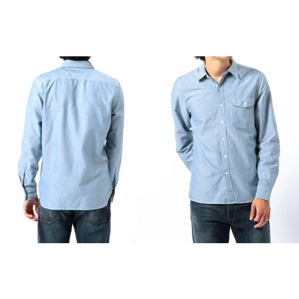 リーバイス Levi's 長袖シャツ ムジ OXシャツ 胸ポケット ワークシャツ メンズ レッドタブ LEVS 65820-0002 1パッチ&フラップポケットシャツ-オックスフォード|birigo|02