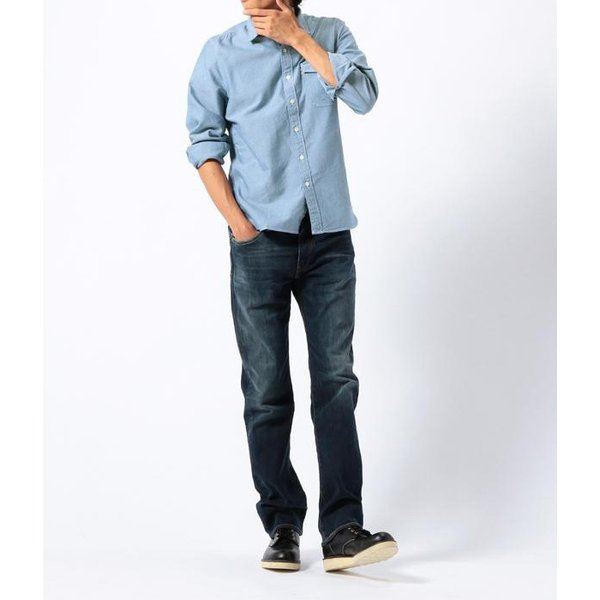 リーバイス Levi's 長袖シャツ ムジ OXシャツ 胸ポケット ワークシャツ メンズ レッドタブ LEVS 65820-0002 1パッチ&フラップポケットシャツ-オックスフォード|birigo|03