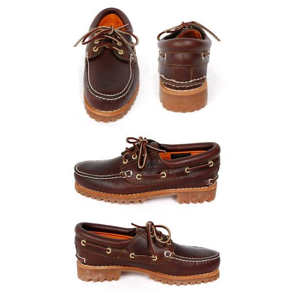 ティンバーランド メンズ シューズ デッキ モカシン 3アイレット クラシック ラグ ブラウン 靴 Timberland 30003 Heritage 3-Eye Classic Lug|birigo|02