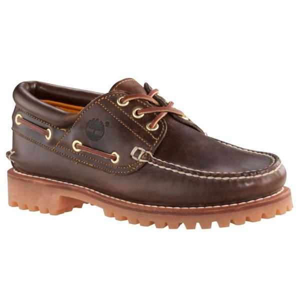 ティンバーランド メンズ シューズ デッキ モカシン 3アイレット クラシック ラグ ブラウン 靴 Timberland 30003 Heritage 3-Eye Classic Lug|birigo|03