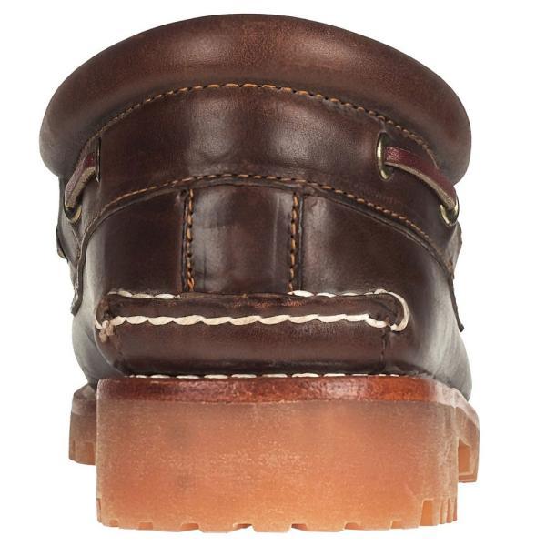 ティンバーランド メンズ シューズ デッキ モカシン 3アイレット クラシック ラグ ブラウン 靴 Timberland 30003 Heritage 3-Eye Classic Lug|birigo|05