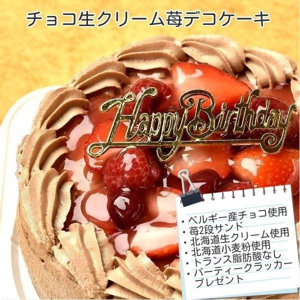 ケーキ スイーツ バースデーケーキ お誕生日ケーキ チョコ生苺ケーキ9号