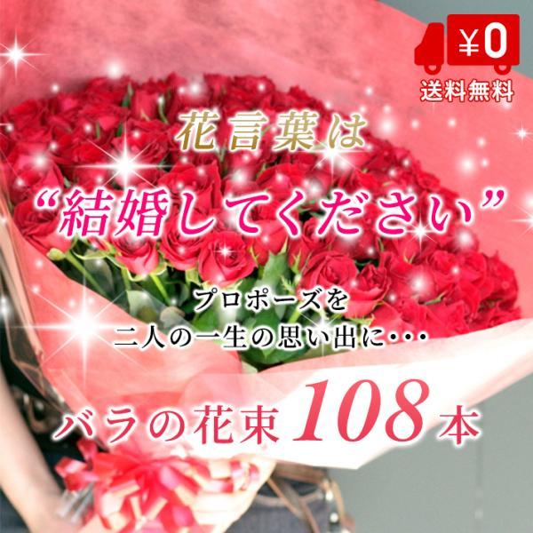 (花言葉は 結婚してください) バラ 花束 108本 40cm 薔薇 バラの花束 プロポーズ 女性 彼女 送料無料 ギフト プレゼント お返し