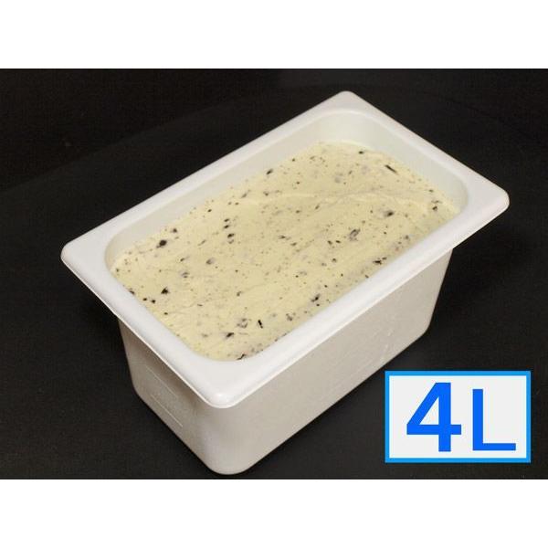 お中元ギフト2021にも! 「ジェラートジェラート」業務用・大容量アイスクリーム・チョコミント味 4L(4リットル)