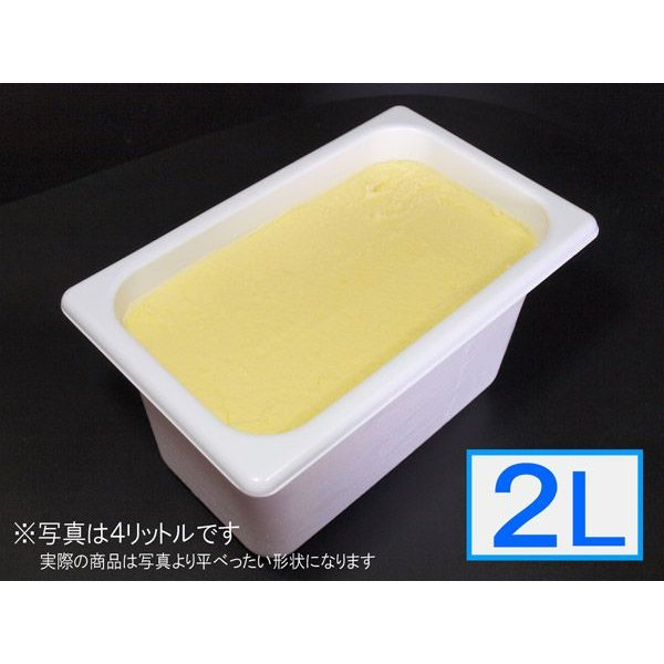 「ジェラートジェラート」業務用・大容量シャーベット(ソルベ)・オレンジ味 2L(2リットル)