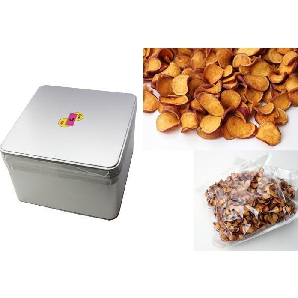 無選別・さつま芋チップス(さつまいもチップス)缶入り1kg・送料無料(のし紙不可)|bishokuc|02