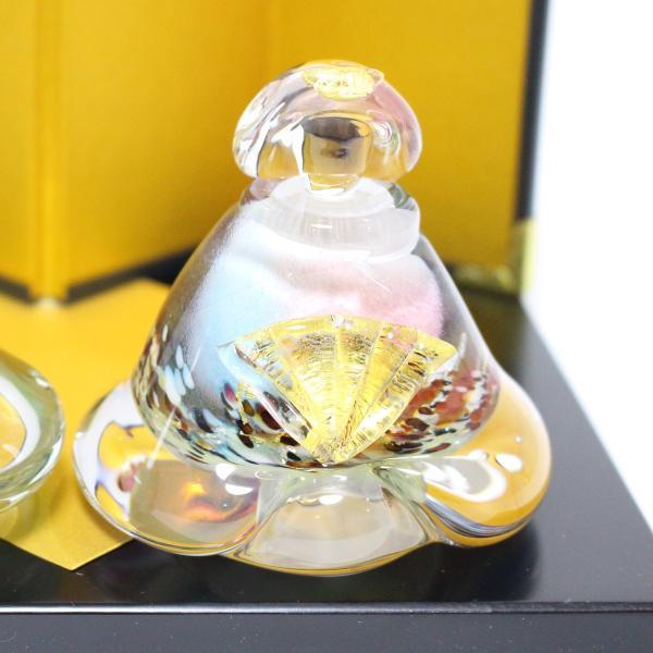ガラスのお雛様 glass calico グラスキャリコ 華雛 ハンドメイド ガラスアート 雛人形 ひな人形 おひなさま 桃の節句 オブジェ コンパクト|bisyukiya|05