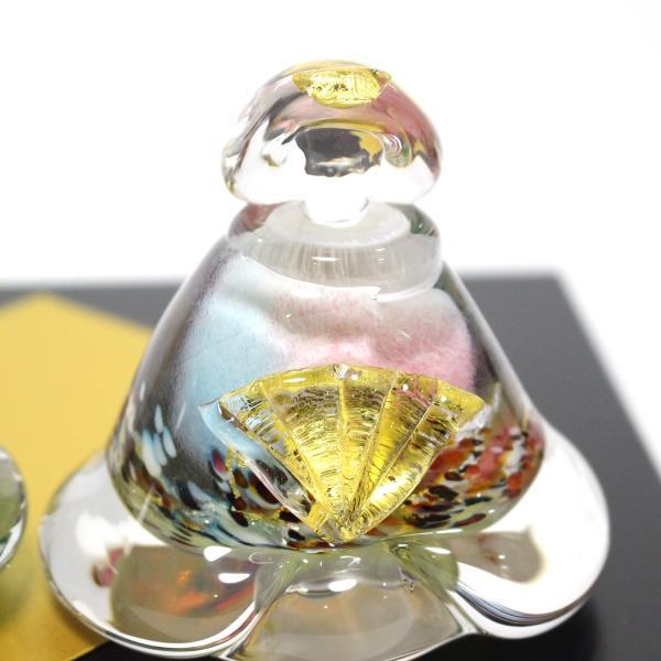 ガラスのお雛様 glass calico グラスキャリコ 華雛 ハンドメイド ガラスアート 雛人形 ひな人形 おひなさま 桃の節句 オブジェ コンパクト|bisyukiya|06
