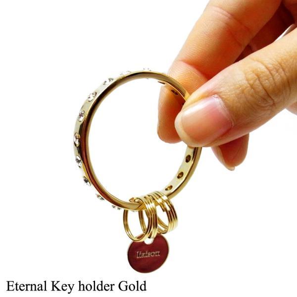 キーリングレディース スワロフスキー エターナル キーホルダー ゴールド Eternal Key holder Gold