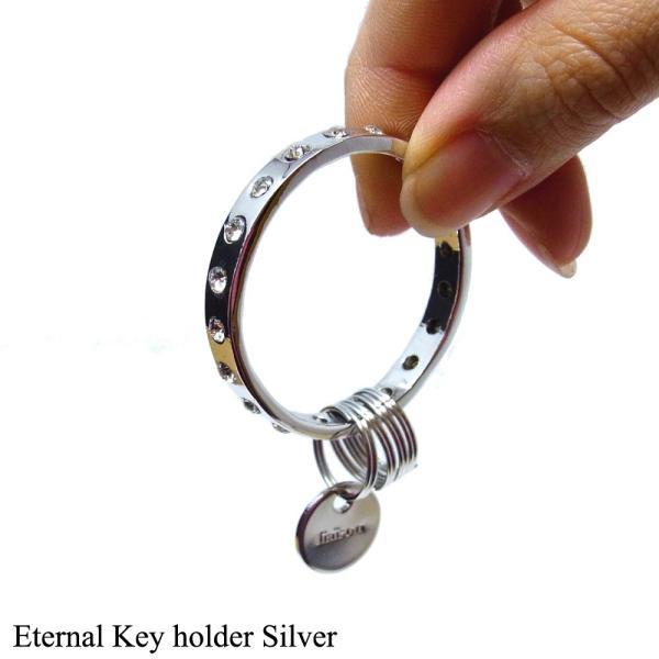 キーリングレディース スワロフスキー エターナル キーホルダー シルバー Eternal Key holder Silver