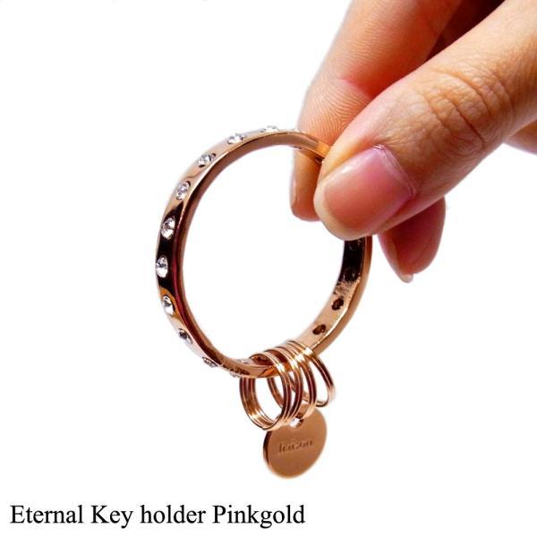 キーリングレディース スワロフスキー エターナル キーホルダー ピンクゴールド Eternal Key holder Pink Gold