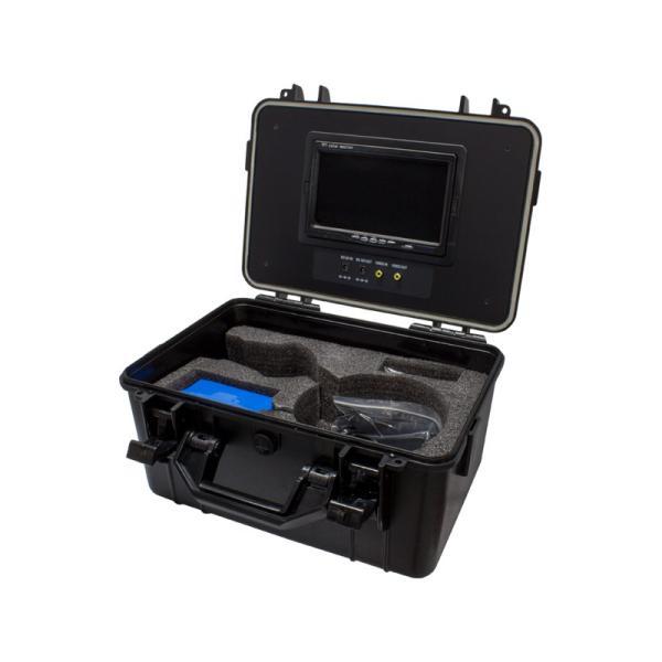 WTW-WPA40R-9 アナログ41万画素 赤外線LED・360度左右旋回機能搭載 水中カメラ ポータブル7インチモニター内蔵ケースセット