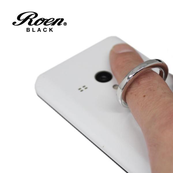 スマホリング スマートフォンリング メンズ アクセサリー Roen ロエン ブラック スマホ スタンド バンカー ホールド リング タブレット アイフォン ギャラクシー bj-direct 02