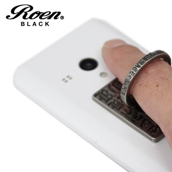 スマホリング スマートフォンリング メンズ アクセサリー Roen ロエン ブラック スマホ スタンド バンカー ホールド リング タブレット アイフォン ギャラクシー|bj-direct|02