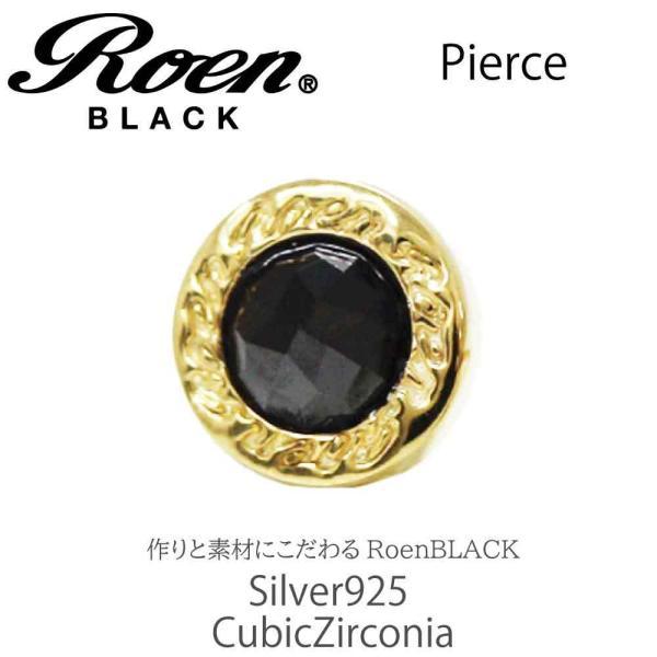 Roen Black ロエン アクセサリー メンズ ピアス シルバー ゴールド キュービック ジルコニア bj-direct 04