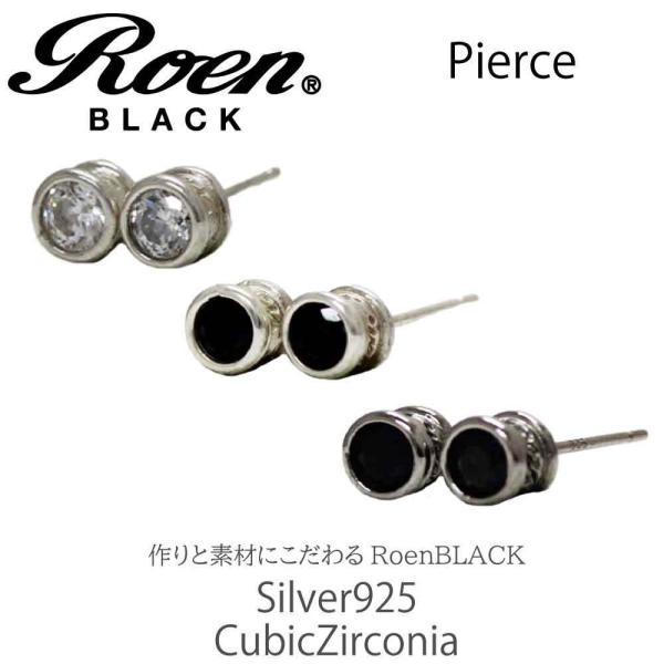 Roen Black ロエン アクセサリー メンズ ピアス シルバー ブラック キュービック ジルコニア|bj-direct|03