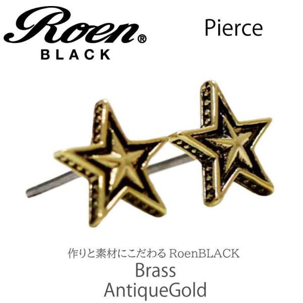Roen Black ロエン アクセサリー メンズ ピアス 星 スター ゴールド ペア|bj-direct|03