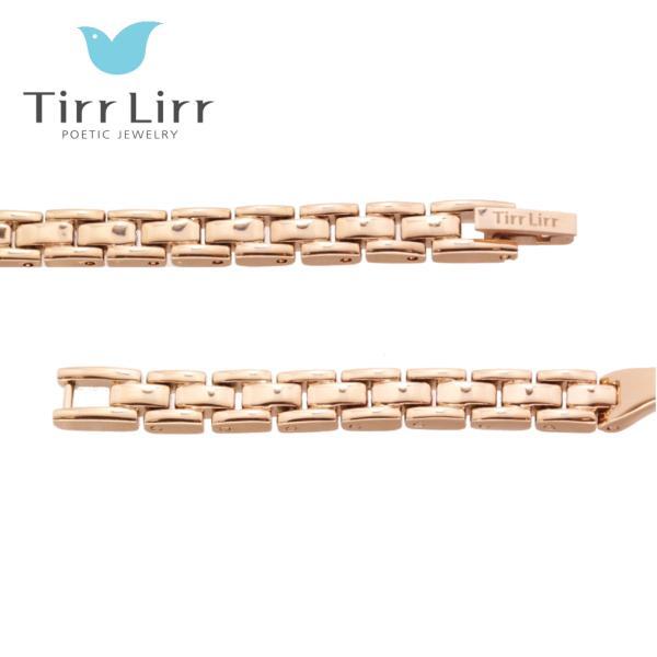 韓国 ファッション レディース 腕時計 人気 メタル ベルト ウォッチ TirrLirr ティルリル シルバー ピンク ゴールド 黒 キュービック ジルコニア ギフト|bj-direct|12