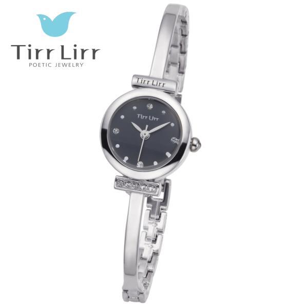 韓国 ファッション レディース 腕時計 人気 メタル ベルト ウォッチ TirrLirr ティルリル シルバー ピンク ゴールド 黒 キュービック ジルコニア ギフト|bj-direct|03