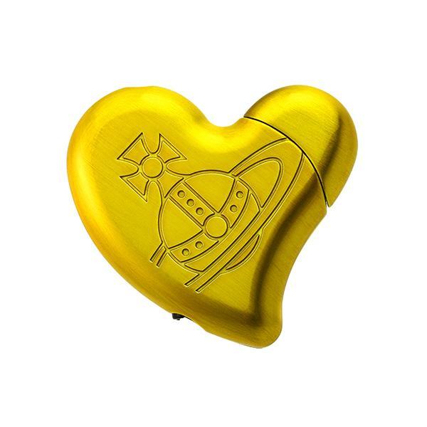 【ラスト1点!!】Vivienne Westwood ヴィヴィアン ウエストウッド ライター ゴールド ハート型 イエロー VW-3411
