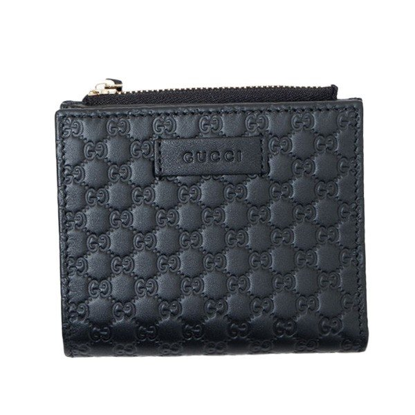 d7a353b007bc アウトレット マイクロシマ レザー ウォレット 折財布 ブラック [レディース] 510318 BMJ1G 1000¥46,300
