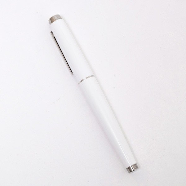 ダンヒル DUNHILL AVORITIES RB WHITE LACQUER ローラーボール ボールペン ホワイト×シルバー NNA35553