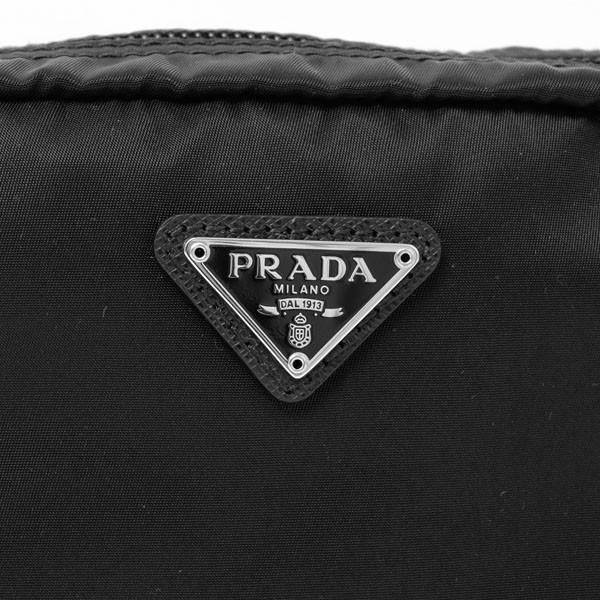 プラダ PRADA TESSUTO 化粧ポーチ コスメポーチ ブラック [レディース] 1NA021 2BQP F0002【●C30】