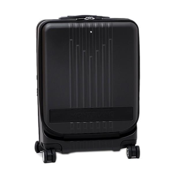 モンブラン MONTBLANC フロントポケット付 キャビン トローリー 4輪 キャリー スーツケース ブラック 37L(3〜4泊向け) [メンズ] 118728|bjkyoto