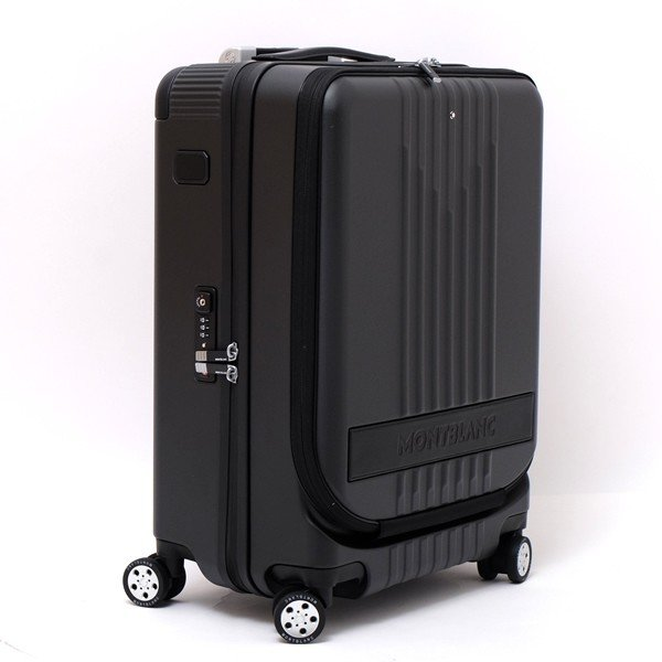 モンブラン MONTBLANC フロントポケット付 キャビン トローリー 4輪 キャリー スーツケース ブラック 37L(3〜4泊向け) [メンズ] 118728|bjkyoto|03