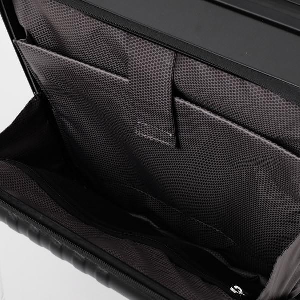 モンブラン MONTBLANC フロントポケット付 キャビン トローリー 4輪 キャリー スーツケース ブラック 37L(3〜4泊向け) [メンズ] 118728|bjkyoto|05