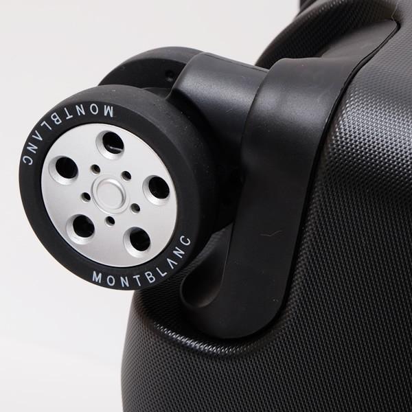 モンブラン MONTBLANC フロントポケット付 キャビン トローリー 4輪 キャリー スーツケース ブラック 37L(3〜4泊向け) [メンズ] 118728|bjkyoto|06